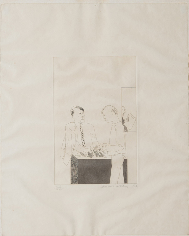 DAVID HOCKNEY (b.1937): HE ENQUIRED AFTER THE QUALITY FROM FOURTEEN POEMS FROM C.P. CAVAFY