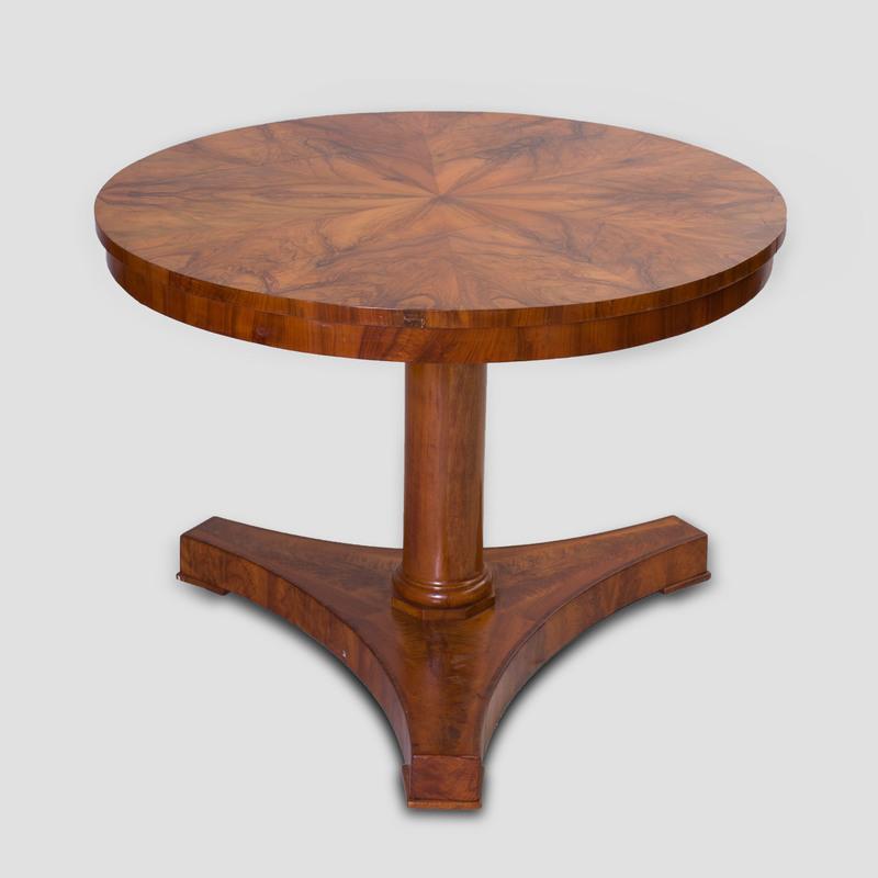 Biedermeier Black Walnut Center Table