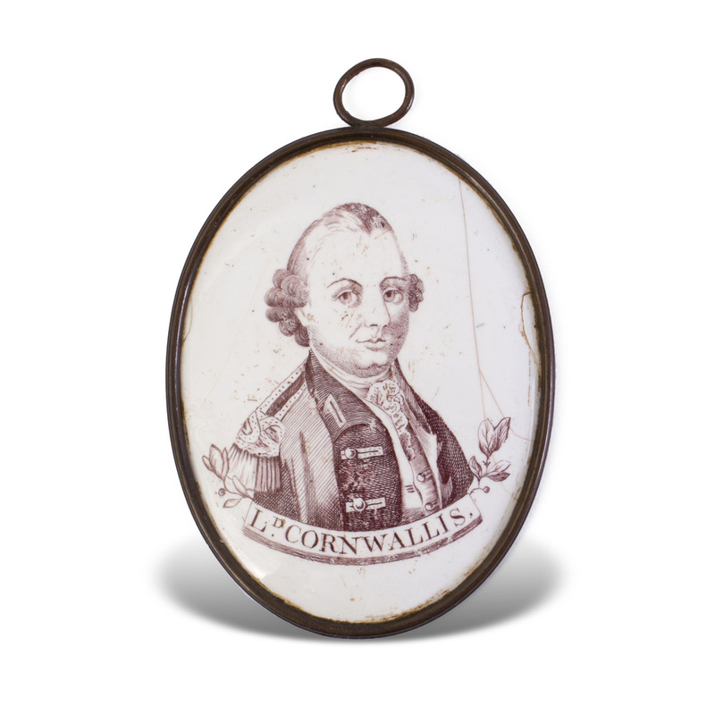 Liverpool Enamel Plaque Depicting Lord Cornwallis