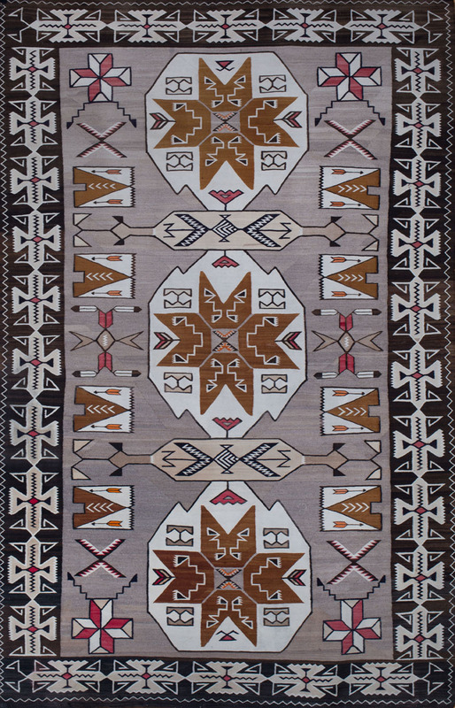 SOUTHWEST INDIAN TAN-GROUND CARPET