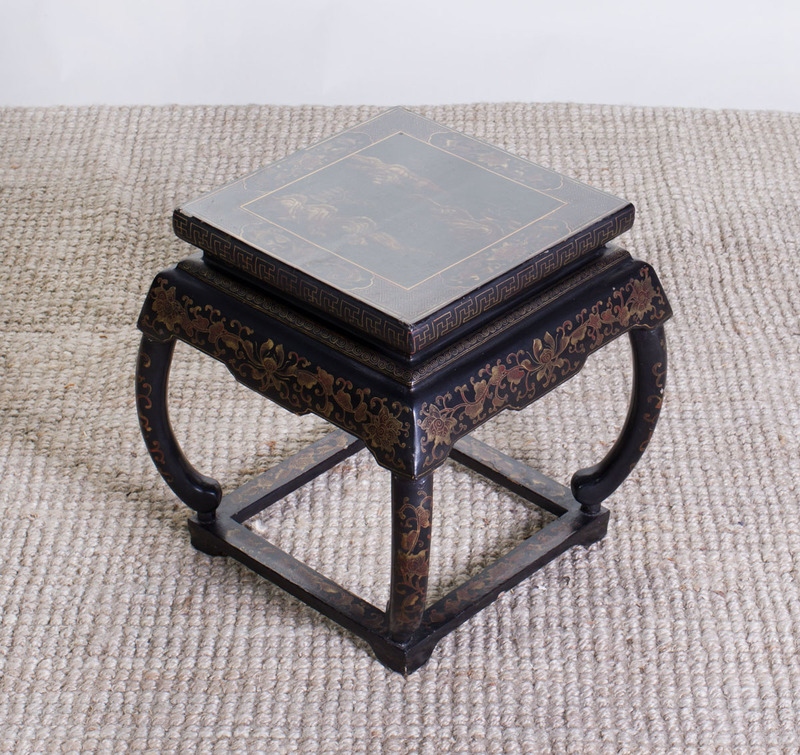 CHINESE BLACK LACQUER AND PARCEL-GILT LOW TABLE