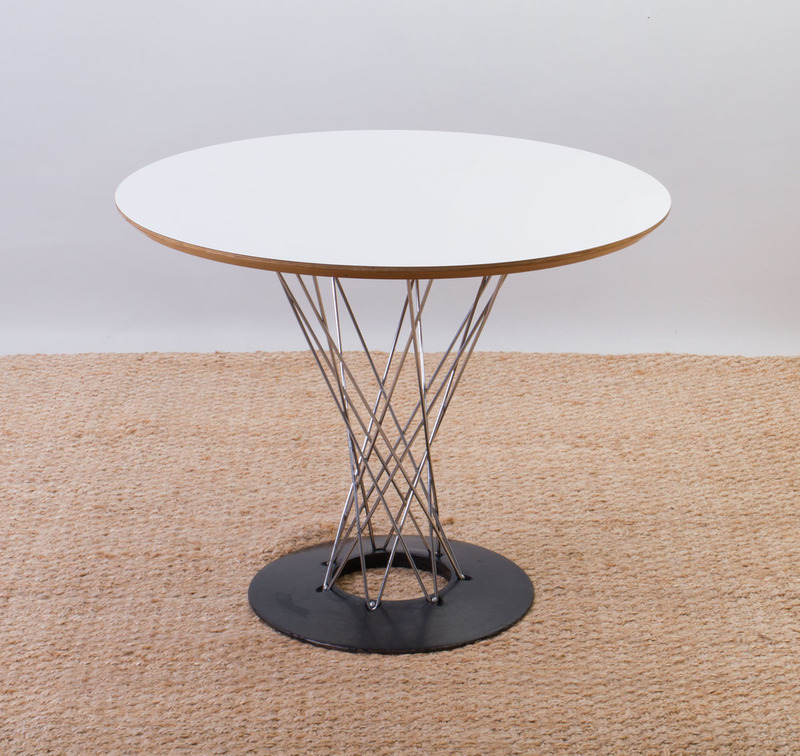 ISAMU NOGUCHI STYLE LAMINATE AND METAL 'CYCLONE' DINETTE TABLE