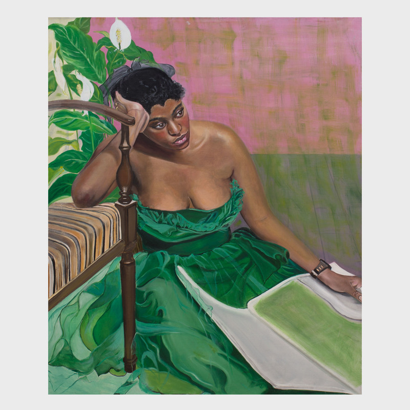 Greta Thyssen (1927-2018): Woman in a Green Dress