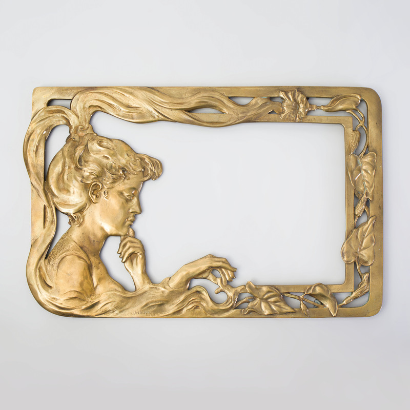 Joseph Mougin Art Nouveau Gilt-Bronze Frame