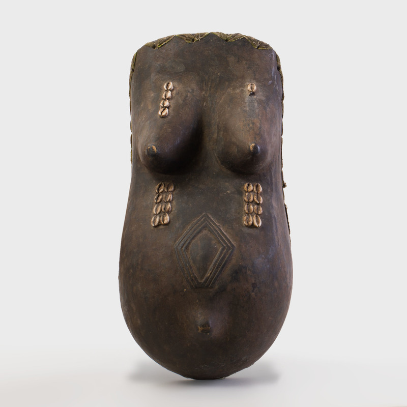Yoruba Gelede Wood and Shell Festival Body Mask