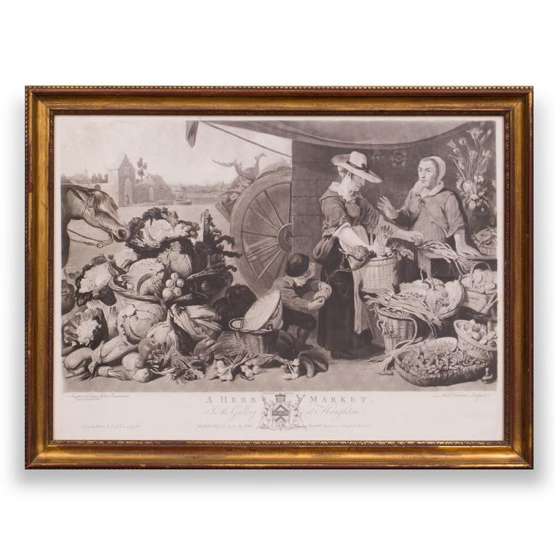 John Boydell (1719-1804): A Fish Market; and A Herb Market