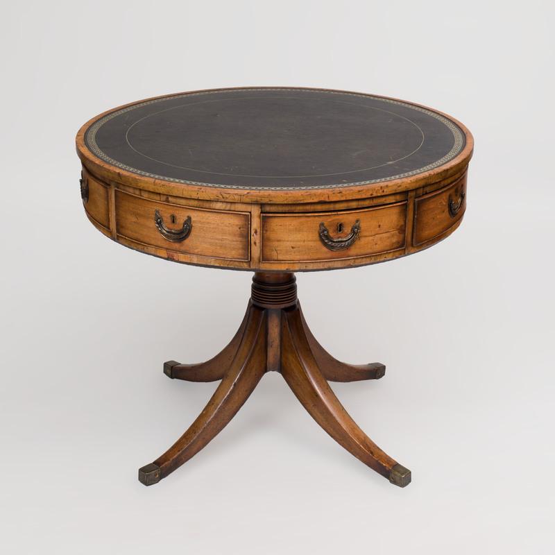 George III Mahogany Drum Table