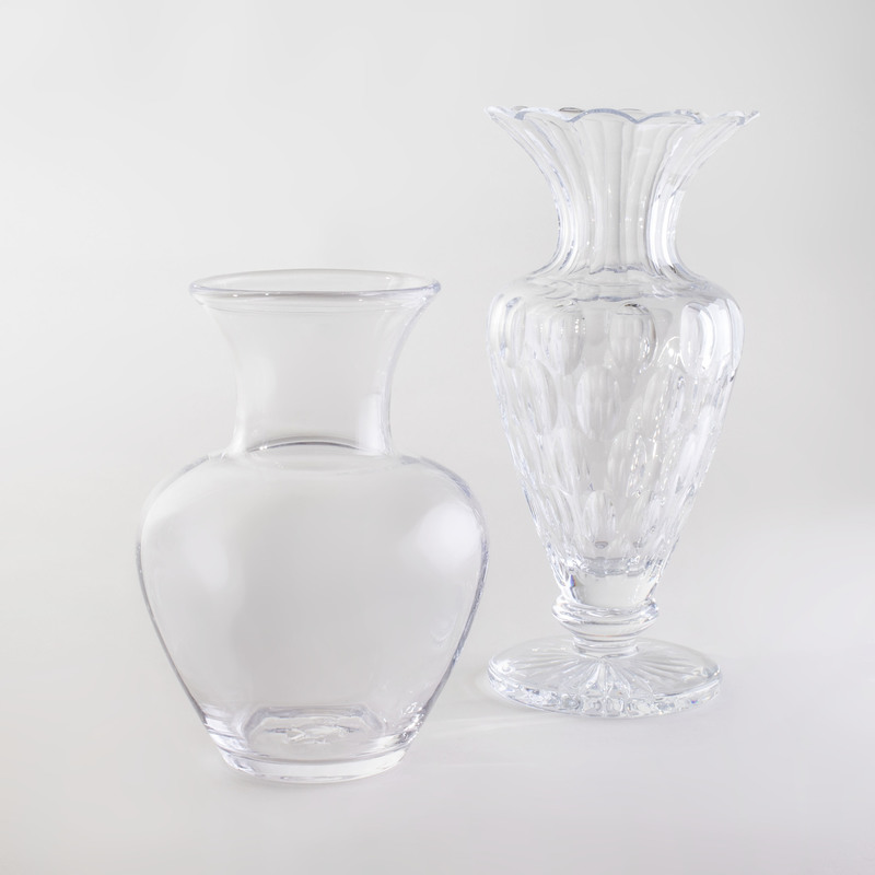 William Yeoward Glass Vase and a Simon Pearce Glass Vase