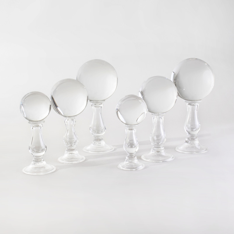 Six Glass Models of Hat Stands