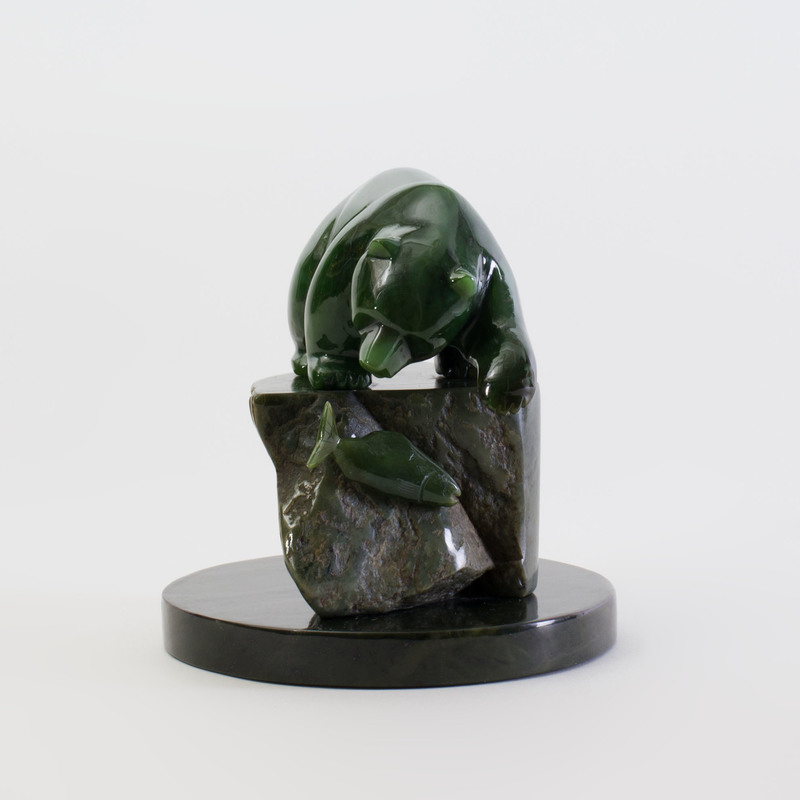 Jade and Hardstone Model of a Bear