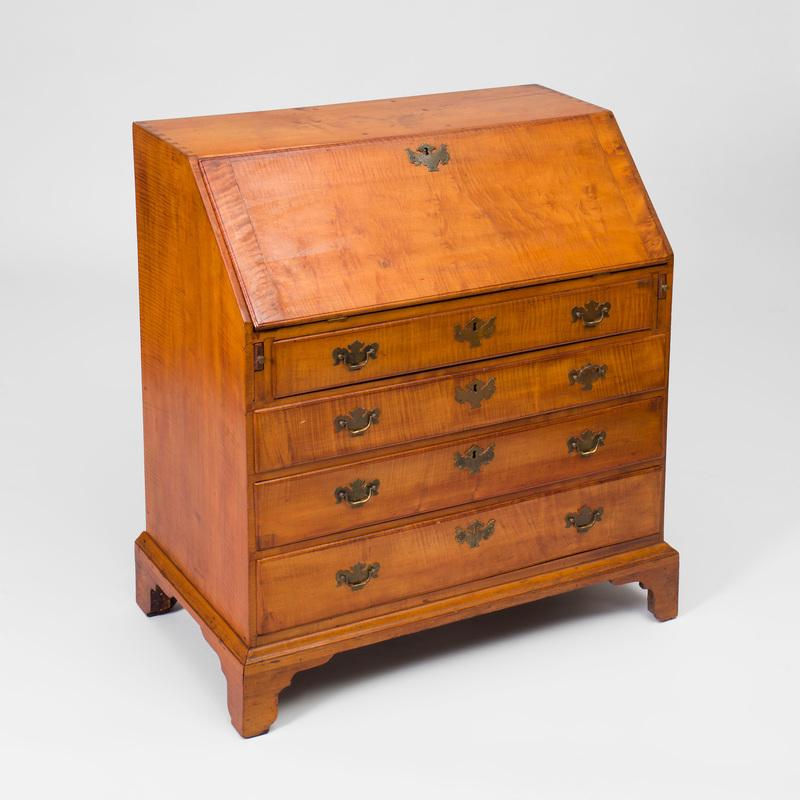 Federal Tiger Maple Slant-Front Desk, New England