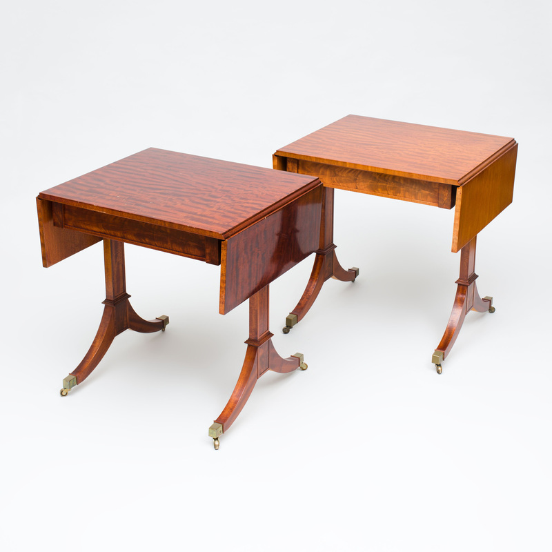 Pair of Federal Style Mahogany Sofa Tables, Late 20th Century