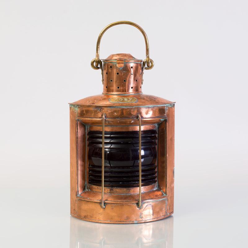 Copper Ship's Port Lantern