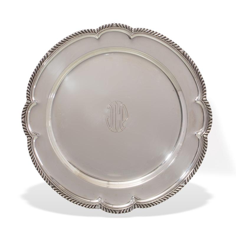 Gorham Shaped Silver Tray