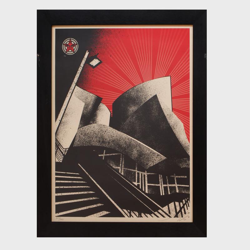 Shephard Fairey (b. 1970): LA Philharmonic Hall
