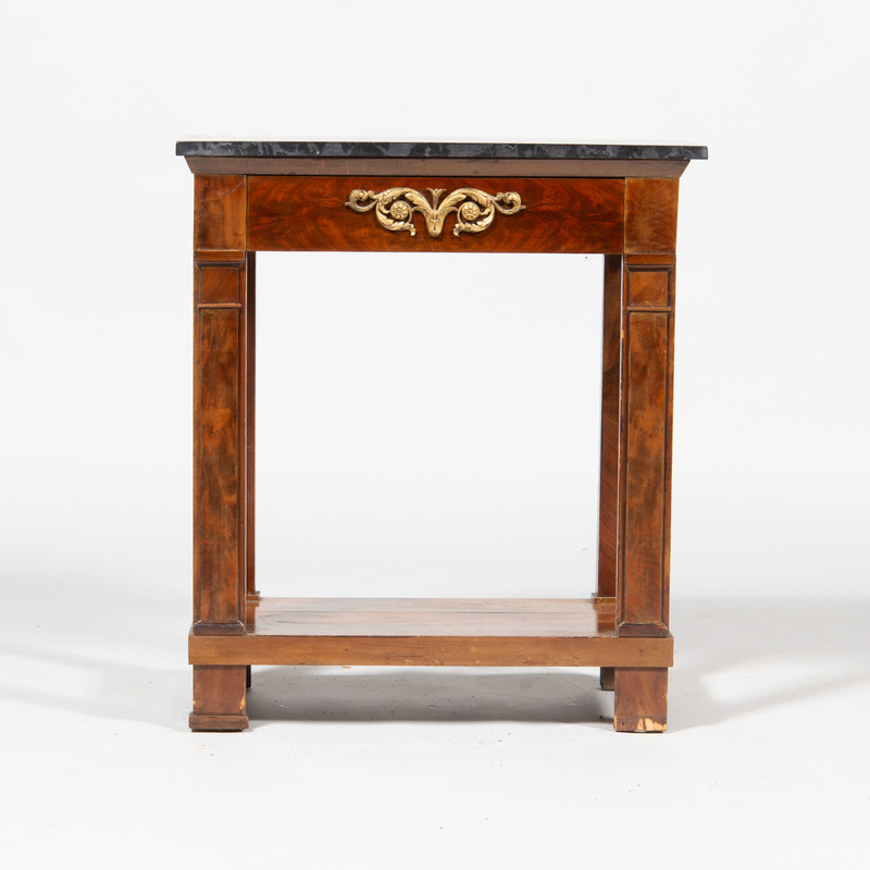 Contintental Neoclassical Gilt-Metal-Mounted Mahogany Side Table