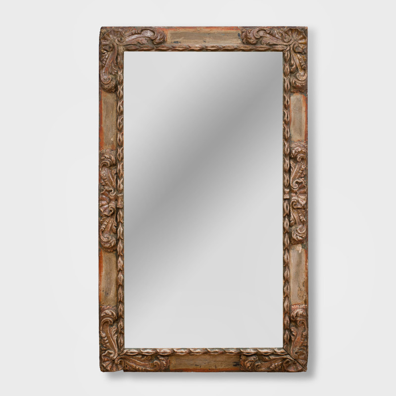Continental Baroque Style Painted Mirror