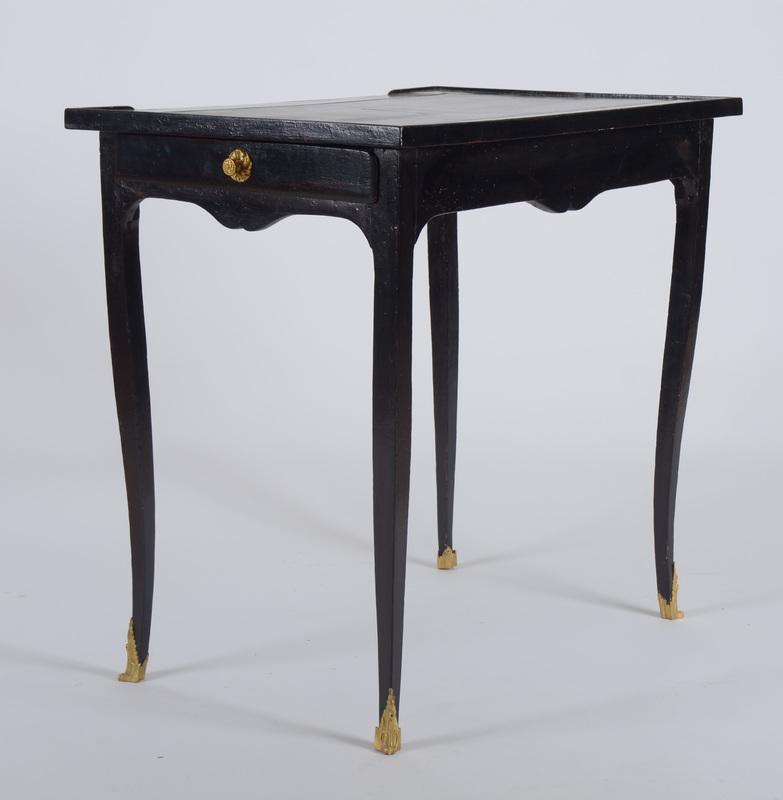 Louis XV Ebonized Oak Leather-Inset Table à Écrire