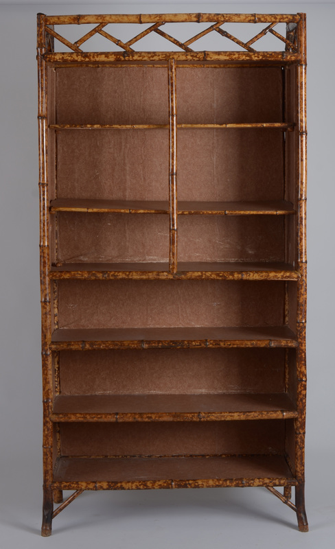 Late Victorian Anglo-Japanese Bamboo Bookcase