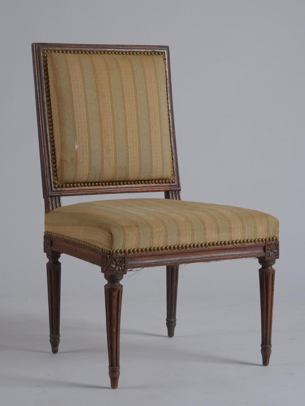 Louis XVI Carved Walnut Side Chair