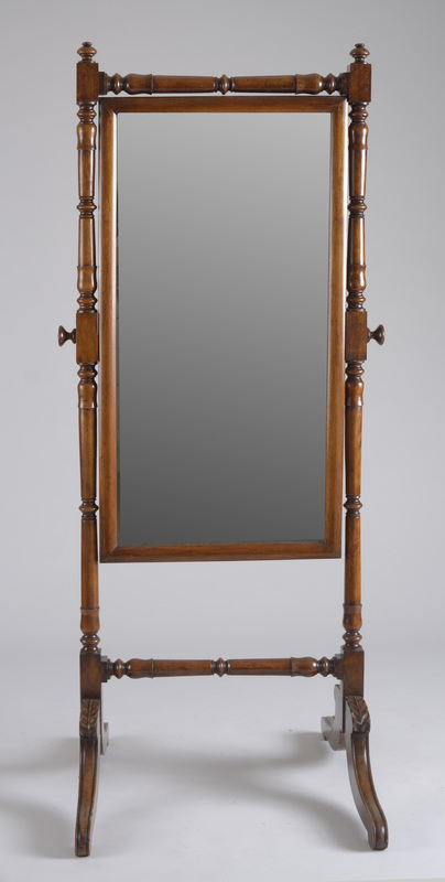 Chippendale Style Mahogany Cheval Mirror