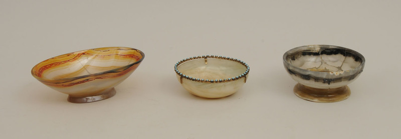 Group of Three Agate Bowls