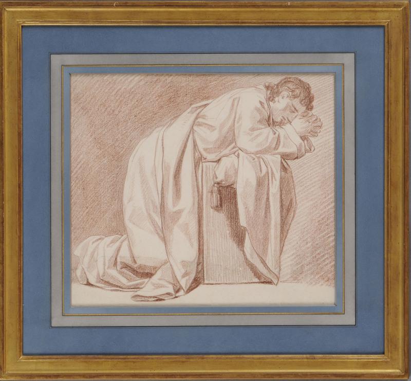 FRENCH SCHOOL: FIGURE KNEELING IN PRAYER
