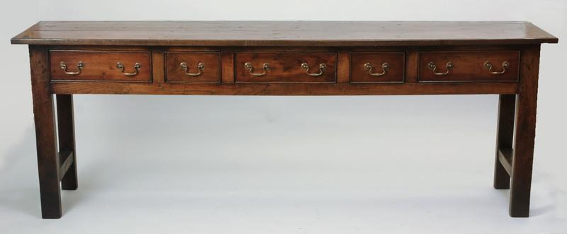 Elm Welsh Dresser Base, Modern