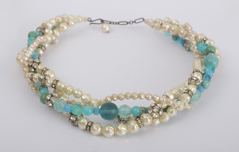 Group of Five Simulated Pearl Necklaces