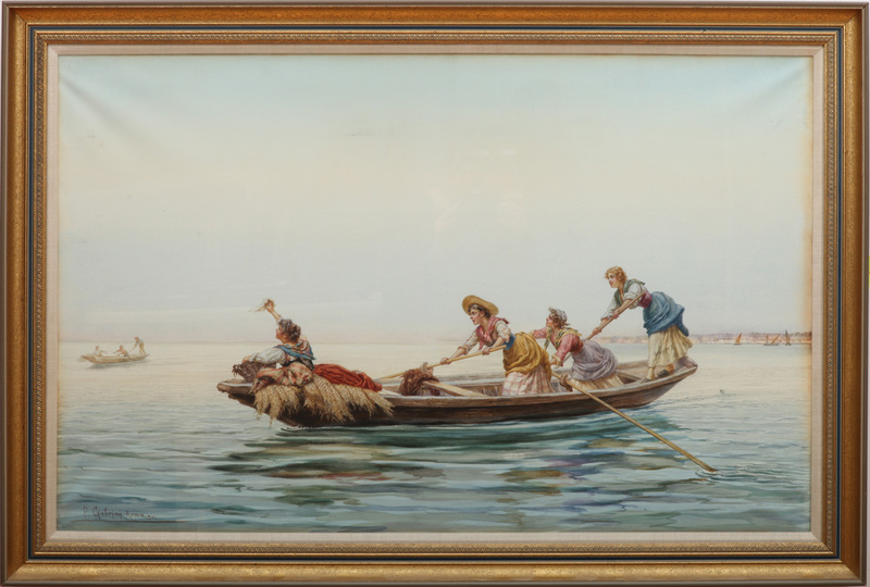 PIETRO GABRINI (1856-1926): THE ROW BOAT