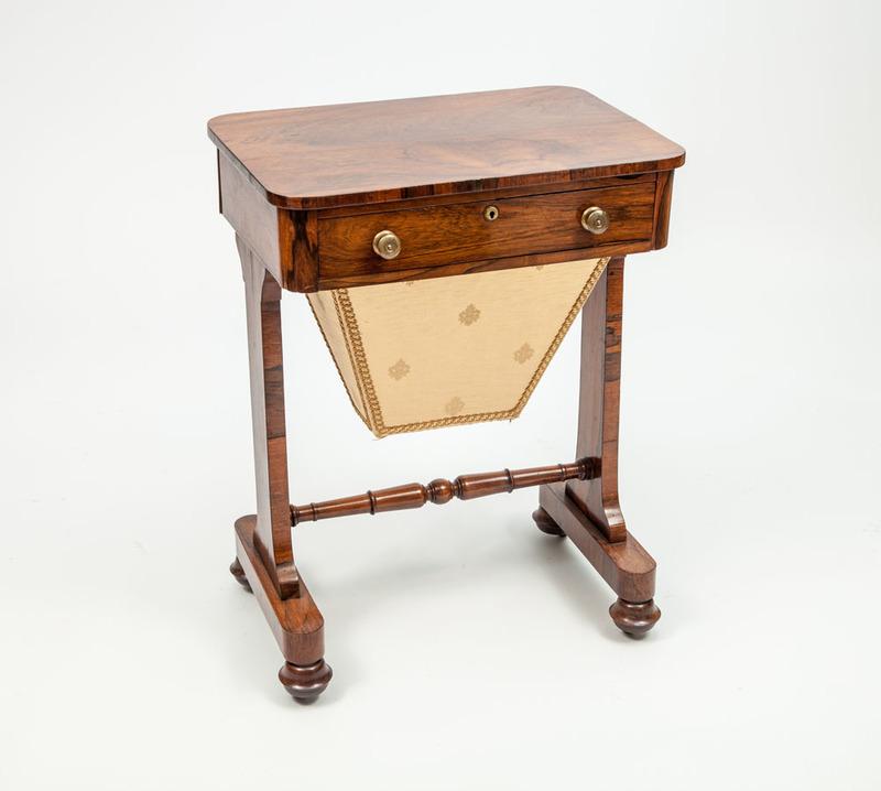 William IV Rosewood Work Table