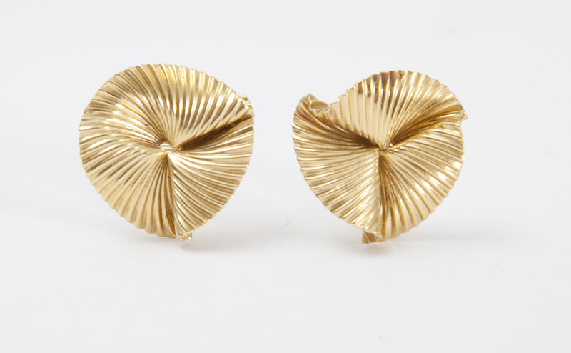 PAIR OF TIFFANY & CO. 14K GOLD EARCLIPS