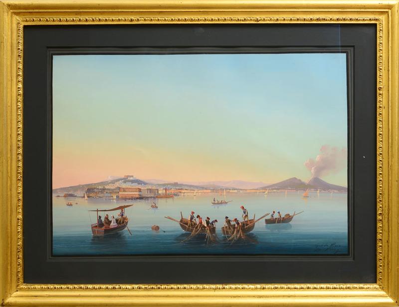 GIOACCHINO LA PIRA (act. 1839-1870): NAPOLI A MARE