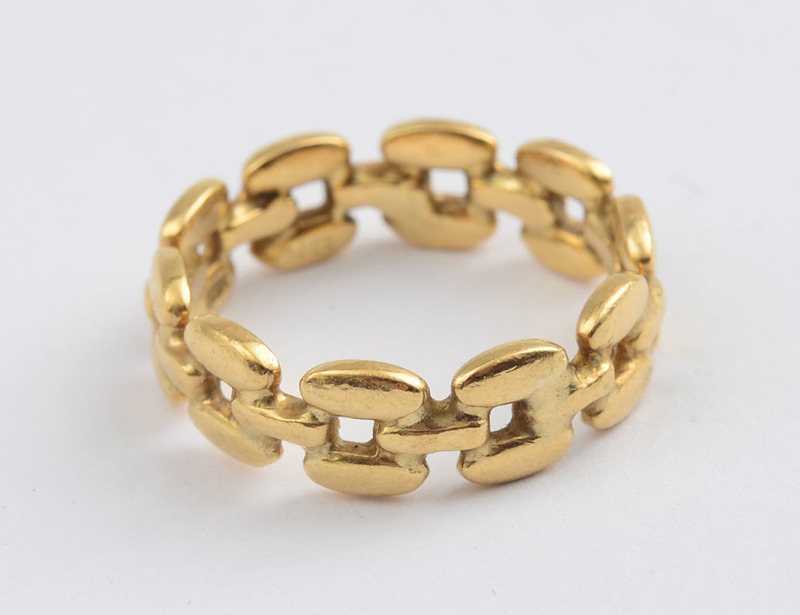 18K GOLD CHAIN LINK RING, TIFFANY & CO.