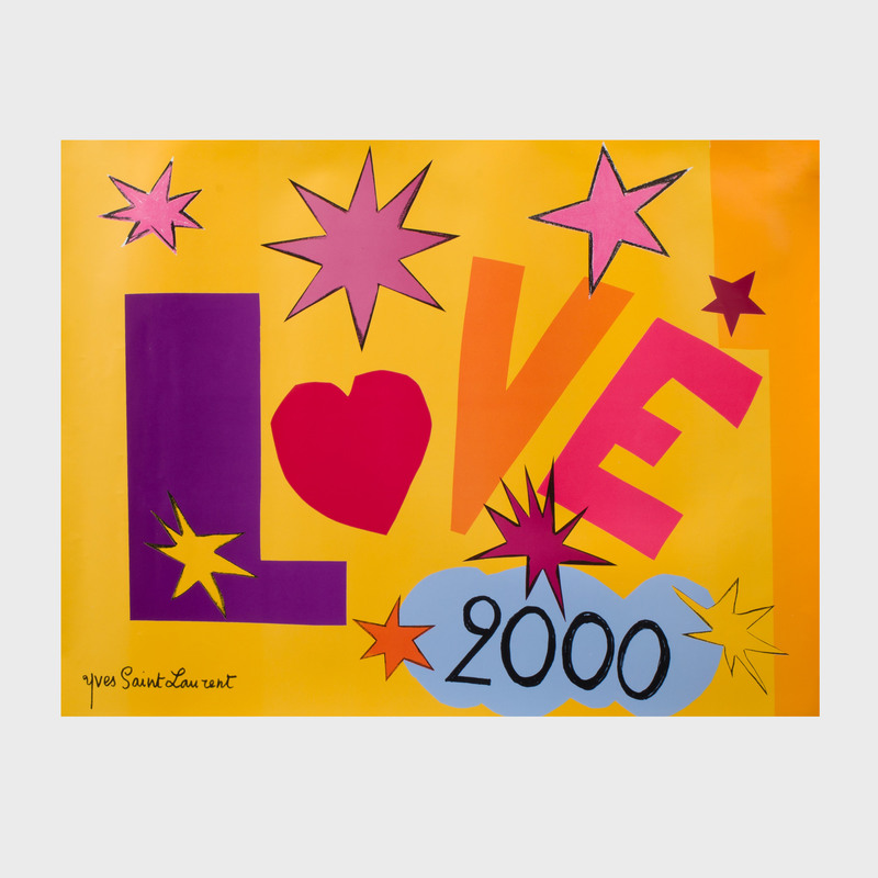 Yves Saint Laurent Love Poster, 2000