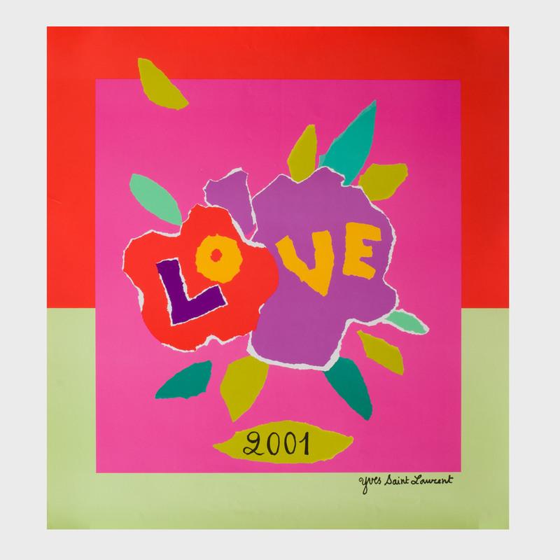 Yves Saint Laurent Love Poster, 2001