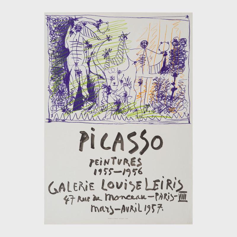 Pablo Picasso (1881-1973): Picasso Paintings 1955-1956; Affiches Originale; and Les Ménines