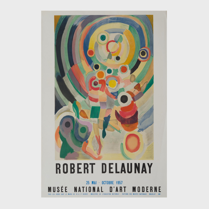 Four Musée National D'Art Moderne Exhibition Posters
