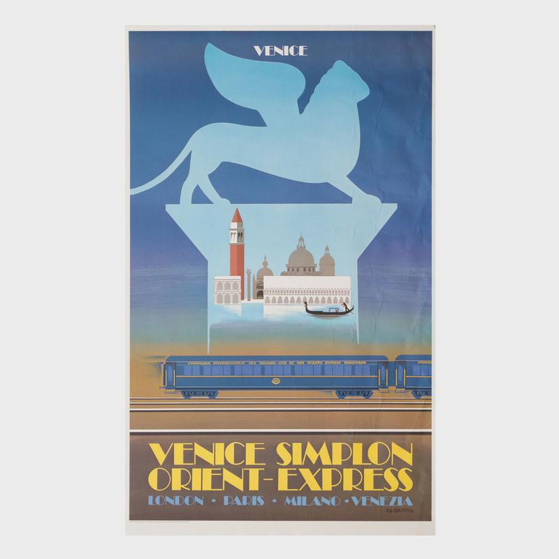 After Felix Masseau (1869-1937): Venice Simplon Orient Express