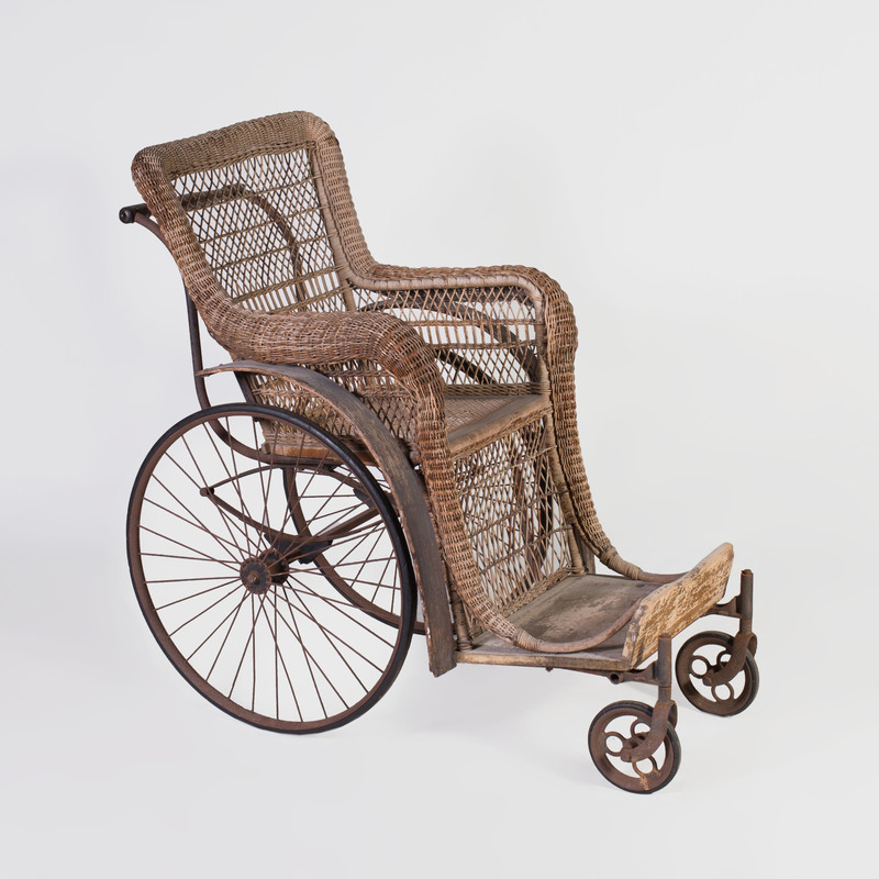 Edwardian Caned Wheel Chair