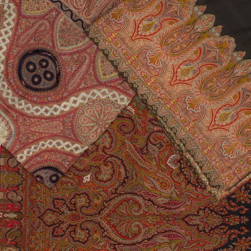 Three Kashmir Embroidered Shawls