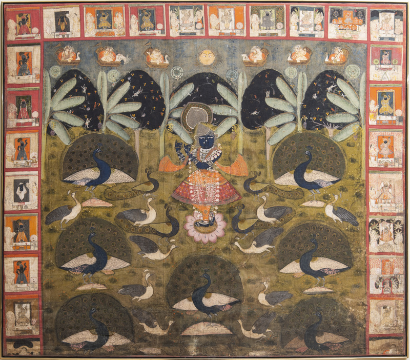 Indian School: Krishna Surrounded by Peacocks