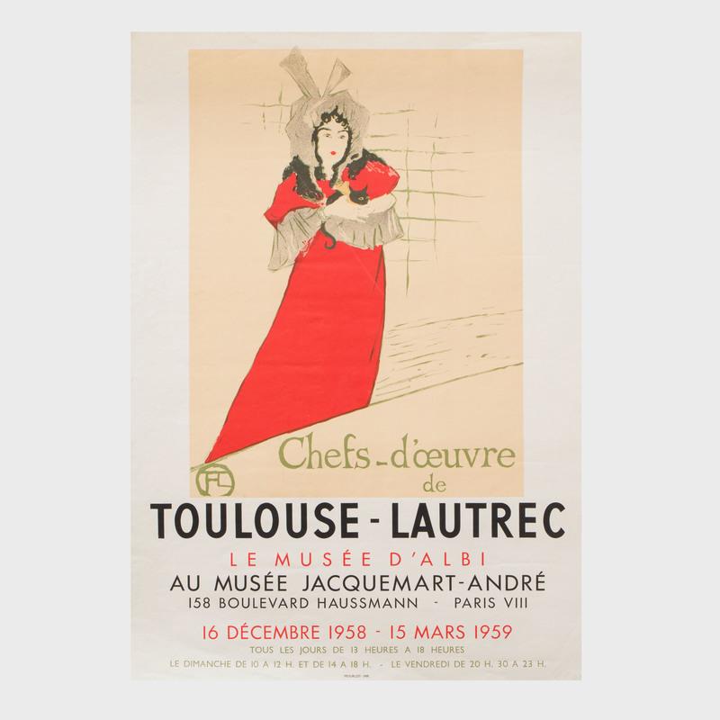 Henri de Toulouse-Lautrec Exhibition Poster