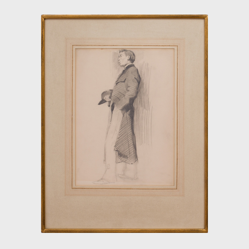 Attributed to Gustave Cimiotti, Jr. (1875 - 1969): Standing Man with Hat and Coat