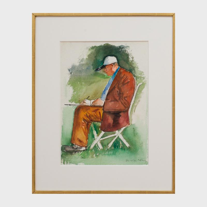 Nicolai Cikovsky (1894 - 1984): Fairfield Porter Sketching