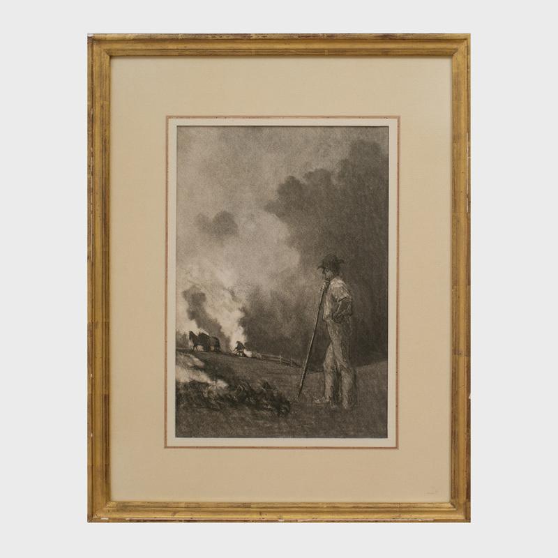 Albert W. Barker (1874 - 1947): Brush Fire