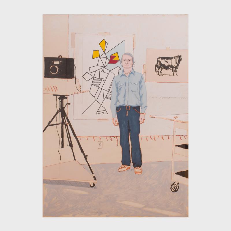 John MacWhinnie (b. 1945): Portrait of Roy Lichtenstein