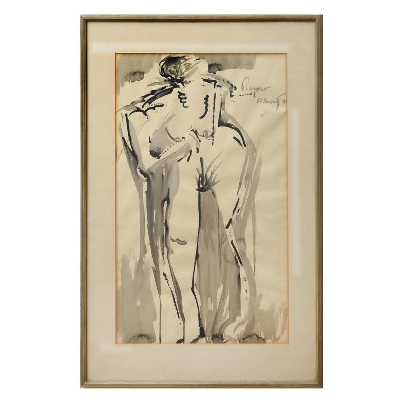 Elliott Barowitz:  Standing Nude