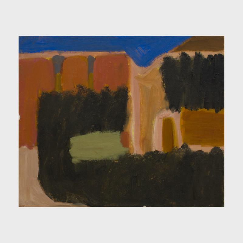 Margrit Lewczuk (b. 1952): Spannocchia, View Through the Tree