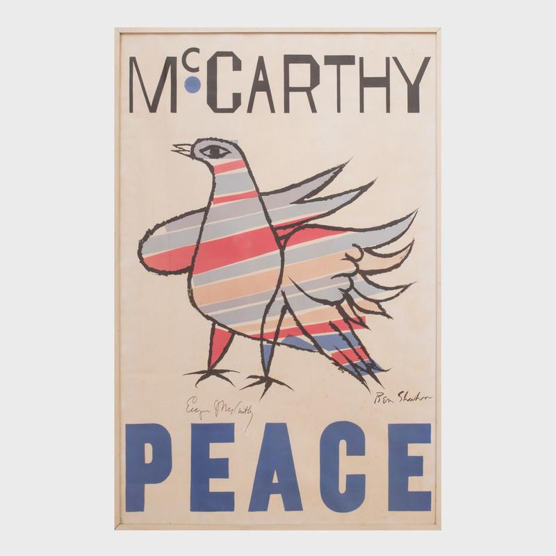 After Ben Shahn (1898-1969): McCarthy, Peace